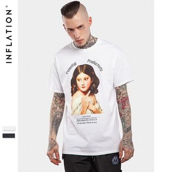 INFLATION 2017 D'une Seule Pièce T-Shirt Hommes Coton Nouveauté T Chemises Tops À Manches Courtes T-shirt Livraison Gratuite