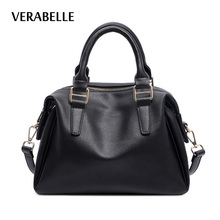 VERABELLE 2017 high quality women pillow boston totes purse and handbag female top-handle PU Leather shoulder messenger bags