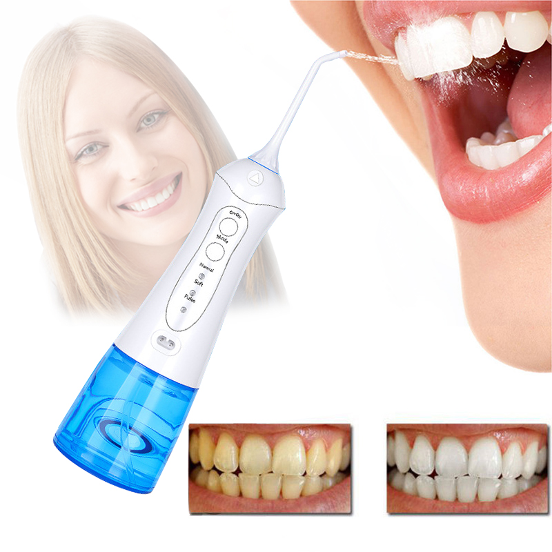 Nicefeel Dental Floss Oral Irrigator Water Flosser Portable Irrigator Dental Floss Pick Irrigation Of Oral Cavity Rechargeable<br>