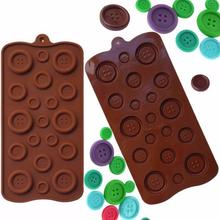 Button Mould Silicone Mold Baking Pan Tray Make DIY Sweet Candy toJelly Ice  Environment Friendly Muffins  kitchen accessories