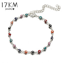 17KM 2 Style Turkish Eye Anklets for Women Fashion Handmade Foot Beads Bracelet bijoux Femme Ethnic Anklets Jewelry