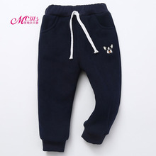Girl Kids Winter Thick Warm Pants Casual Children Long Trousers Baby Girls Pants New Fashion Boys Warm Pants 2 4 6 8 10 Years(China)