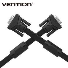 Vention Brand 1m 1.5m 2m 3m 5m 8m 10m 15m VGA to VGA Flat Cable Male to Male Black Braided Shielding for PC HDTV VGA Cabo Video(China)