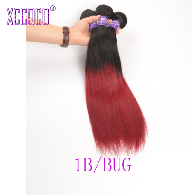 1B Burgundy Two Tone Indian Ombre Hair Extensions 3Pcs lot Dark Root Red Ombre Indian Straight Hair Weave 1B 27 Ombre Human Hair<br><br>Aliexpress