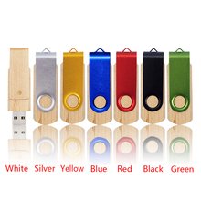 Whosale 1th Rotating 64 gb Usb flash drive Pen drive Usb memory stick usb disk 4/8/16/32/64/128GB 32gb pendrive memory stick(China)