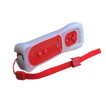 Red Motion Sensor Remote Controller + Wired Nunchuck Combo for Nintendo Wii Console(China)
