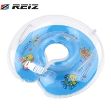 1Pcs Colorful New Baby Aids Infant Swimming Neck Inflatable Tube Float Safety Ring Catoon Adjustable mom best choose Hot Selling