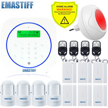 Free shipping.Wireless Colorful Color Siren home office Gsm sms Alarm system+6 upgrade new Door sensor Security Home Android App