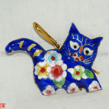 Wholesale 10pcs Chinese Cloisonne /Enamel cat Christmas Ornaments for christmas decoration(China)