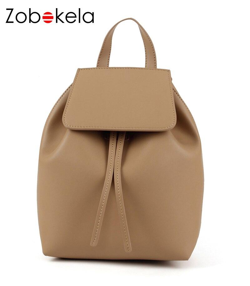 ZOBOKELA Women Backpack High Quality PU Leather School Bags For Teenagers Girls Top-handle Backpacks 2018 bags Backpack Ladies<br>