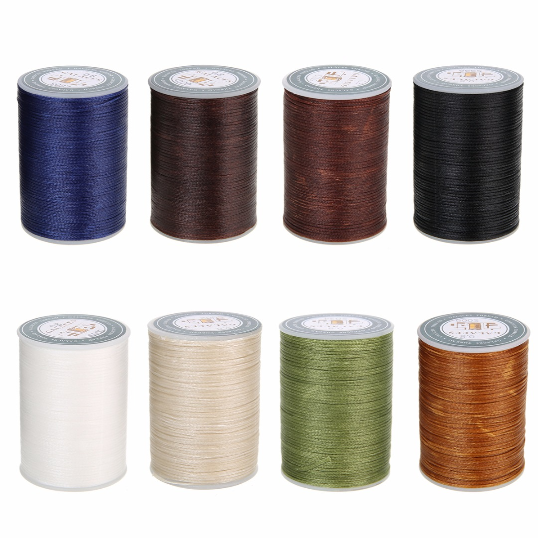 Polyester Microfiber Waxed Thread 0.8mm DIY Waxed Thread Cord String Leather Sewing Hand Wax Stitching For Arts Crafts Shoe Hat