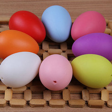 12pc mixed color 40x60mm 2017new Easter decoration for home kids children DIY painting egg craft toys plastic easter egg