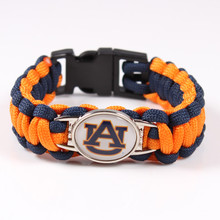 NCAA Auburn Tigers College Football Team Paracord Survival Bracelet Friendship Outdoor Camping Bracelet Drop Shipping 2017