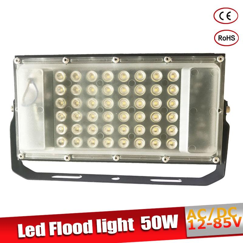 Led Flood Light Waterproof IP65 50W AC/DC12-85V LED Spotlight Refletor Outdoor lighting Wall Lamp Garden Floodlight