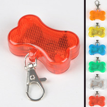 New 2016 Pet Puppy Cat Dog LED Bone Waterproof Clip-on Pet Safety Light for Cats and Dogs Pendant