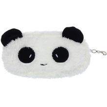 Xiniu Women Wallets Plush Panda Pen Pencil Case Cosmetic Makeup Bag Coin Purse Wallet #YW