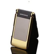 "Newmind V518 2.4"" Women Flip Phone With Double Dual Screen Camera MP3 MP4 Dual Sim Card  Luxury Cell Phone"