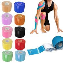 5M*5CM Kinesio Taping Bandage RollAthletic Kinesiology Sport Elastic Adhesive Knee Muscle Tape Strapping Strain Injury Support(China)