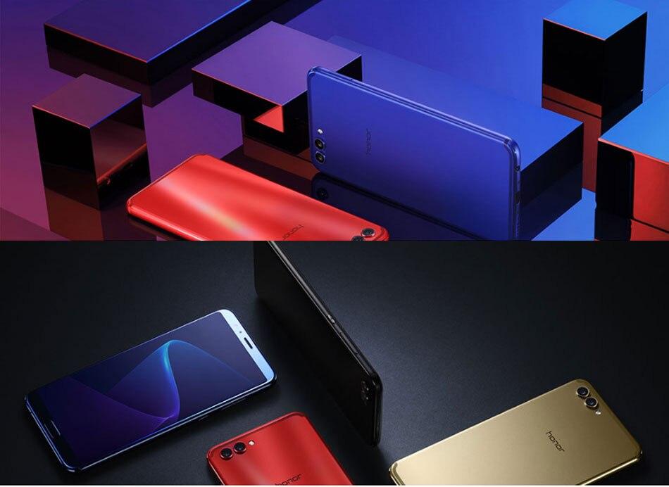 Original Huawei Honor V10 4G LTE Mobile Phone 5.99 inch Kirin 970 Octa Core 6GB RAM 128GB ROM 1080*2160P Android 8.0 SmartPhone