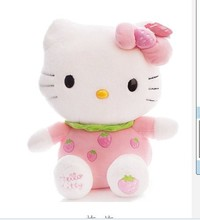 NEW STuffed animal pink fruit strawberry kt hello kitty about 33cm plush toy 12 inch soft Toy birthday gift wt27(China)