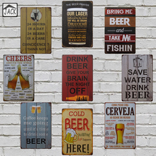 Save Water Drink Beer Tin Plate Poster Retro Advertising Metal Tin Signs 8x12 inch Bar Pub Club Shop Wall Decor Beer Signs(China)