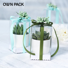 Direct Selling clear box 10pcs/lot  clear box  with flowers/ wedding candy box/ bachelorette party supplies/wedding gift box