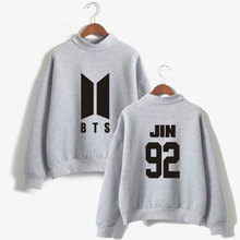 LUCKYFRIDAYF BTS Turtleneck Hoodies Sweatshirts Love Yourself k-pop Women Bangtan outwear Hip-Hop Hoodies DNA K-pop Clothes(China)