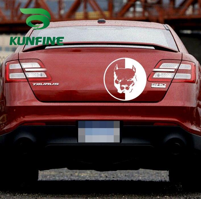 pitbull super hero dog car sticker car decal-5
