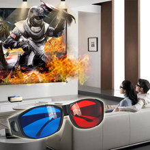 New Red Blue 3D Glasses Anaglyph Framed 3D Vision Glasses for Game Stereo Movie Dimensional Anaglyph Glasses Plastic glasses(China)