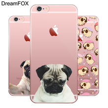L025 Cute Dog Soft TPU Silicone  Case Cover For Apple iPhone 7 6 6S Plus 5 5S SE 5C 4 4S