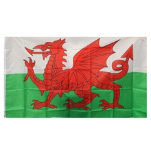 150x90CM Large Wales Welsh Red Dragon National Flag Banner Soccer Football Hanging Decor(China)