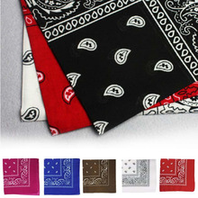 Hot multicolor cool Style Headwear/Hair Band Scarf Cow Boy Wrist Wrap Paisley Biker Neck Head Wear Headband For Women/Mens(China)