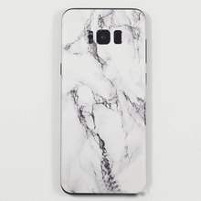 2017 Marble Grain Line Sticker Matte Back Film Wrap Skins Phone Back Membrane Paste Protective Sticker for Samsung S8/S8 Plus(China)