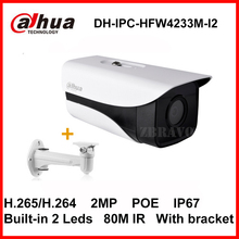 Buy Dahua Starlight H.265 2MP DH-IPC-HFW4233M-I2 Network IP Camera POE Camera IP67 Waterproof Infrared 80M CCTV Camera bracket for $76.46 in AliExpress store