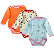 3 Pieces/lot long sleeve Cartoon Style Baby Girl Boy Spring Autumn Winter Clothes NewBorn Body Baby Ropa Next Baby Bodysuit