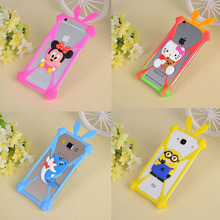 3D Cute Cartoon Animals Soft Silicone Cover For Samsung Galaxy Note 1 2 3 4 5/Note 3 N7505/Ace S5830i Cover Anti-knock Bumper