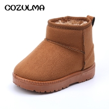 COZULMA Kids Baby Toddler Shoes Child Winter Warm Snow Boots Shoes Plush Thicker Sole Boys Girls Snow Boots Shoes Big Size 22-33