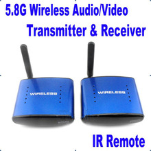New PAT 530 5.8G Wireless AV TV Audio Video Sender Transmitter Receiver IR Remote Support 8 Ground 200m for IPTV DVD STB DVR