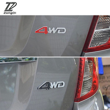 ZD 4WD 4X4 Car 3D Metal Stickers for Toyota c-hr Kia sportage Peugeot 3008 Honda civic Hyundai tucson 2017 Accessories 2017(China)