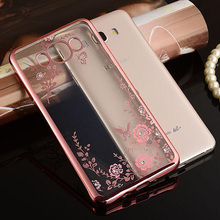Buy Flora Bling Diamond Case Coque Samsung Galaxy J7 2016 Case Silicone Crystal Soft TPU Cover Samsung J7 2016 J710 Cases for $2.92 in AliExpress store