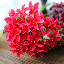 DIY floral arrangment decor Simulate Silk Lilies Flower 30 Artificial Flower Heads Party Wedding Decor Bouquet Craft(China)