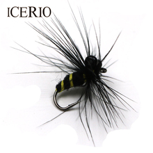 ICERIO 8PCS Bumble Bee Wet Flies Fly Trout Fishing Lure #12