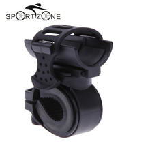 360 Degree Swivel Bike Bicycle Cycle Flashlight Torch Mount LED Head Front Light Holder Clip Rubber for Diameter 28-40mm MBI-31