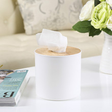 Primary Color Oak Tissue Box Paper Cotton Storage Case Holder Cover Tissue Pumping Box Case for Home Decor 5ZCF249(China)