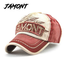 [JAMONT] Cotton Outdoor Sports Baseball Cap For Men Women Fitted Snapback Peaked Cap Wash Sunscreen Bone Masculino Adjuatable