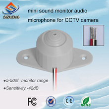SIZHENG security camera microphone mini ceiling sound monitor audio pick up for CCTV system