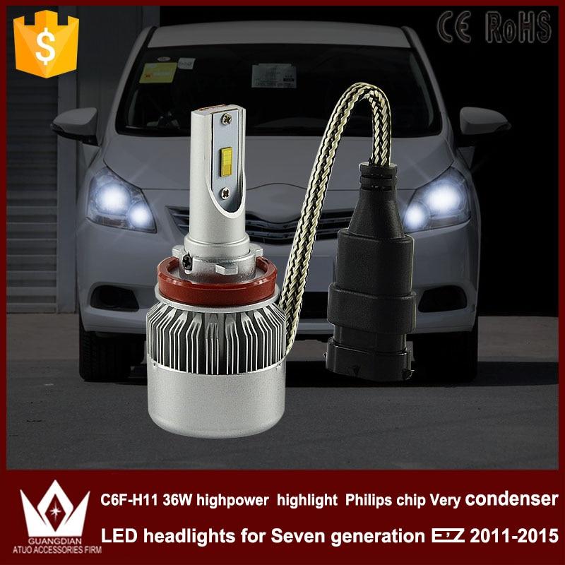 Guang Dian car led light h11 Headlight Head lamp low beam Dipped beam C6F 6000K white h8 h9 h11 for TO-Y-O-T-A for EZ 2011-2015<br><br>Aliexpress