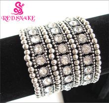 RED SNAKE Fashion and Cover scar flexible telescopic Alloy Elastic  Zircon Chain Bracelet