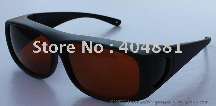 laser safety glasses 190-540nm &amp; 800-2000nm, OLY-LSG-1, CE O.D 4+, 5+, High V.L.T % for 266,455, 532, 808, 980, 1064 ..<br>