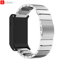 Metal Wristband Classic Buckle Fashion Stailess Steel Bracelet Strap Watch Band for Garmin vivoactive HR Smart Watch Accessory(China)